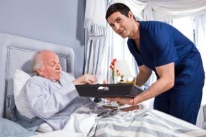 caregiver and elderly